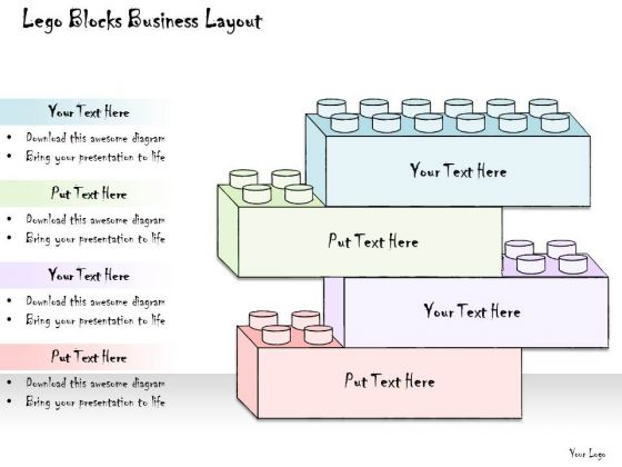 Ppt Slide Lego Blocks Business Layout Strategic Planning