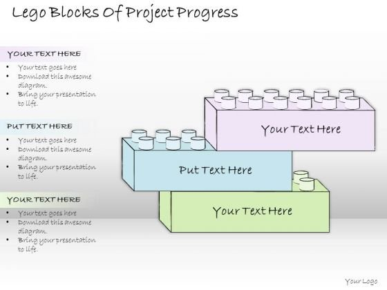 Ppt Slide Lego Blocks Of Project Progress Consulting Firms
