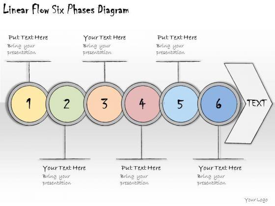 Ppt Slide Linear Flow Six Phases Diagram Marketing Plan