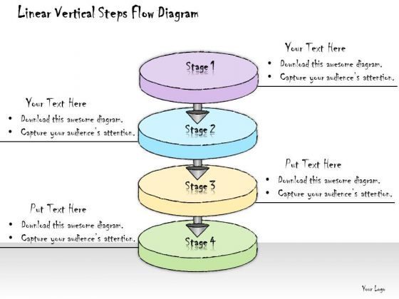 Ppt Slide Linear Vertical Steps Flow Diagram Consulting Firms