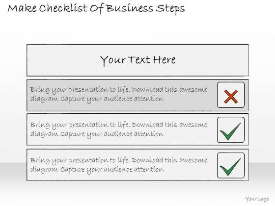 Ppt Slide Make Checklist Of Business Steps Plan