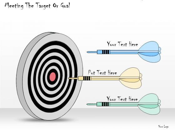 Ppt Slide Meeting The Target Or Goal Business Plan