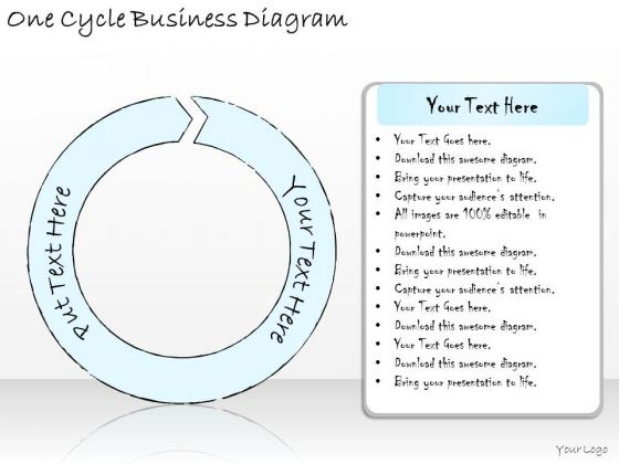 Ppt Slide One Cycle Business Diagram Sales Plan