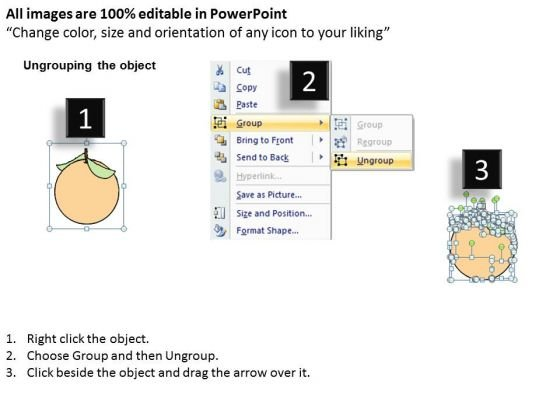 Ppt Slide One Orange In Apples Consulting Firms - PowerPoint Templates