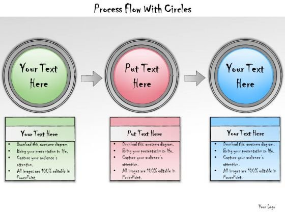 Ppt Slide Process Flow With Circles Business Plan