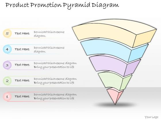Ppt Slide Product Promotion Pyramid Diagram Consulting Firms