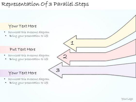 Ppt Slide Representation Of 3 Parallel Steps Strategic Planning