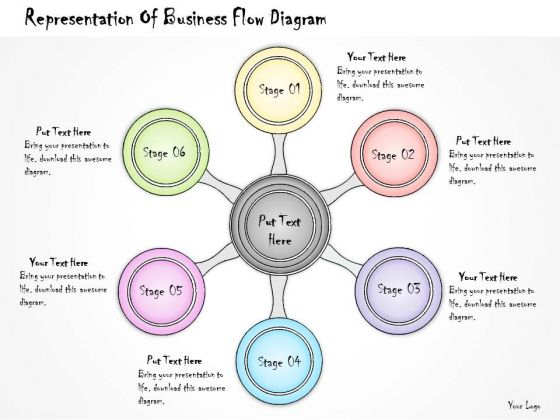 Ppt Slide Representation Of Business Flow Diagram Plan