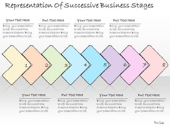 Ppt Slide Representation Of Successive Business Stages Sales Plan