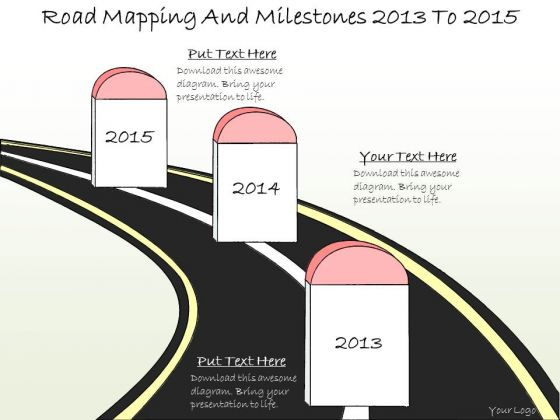 Ppt Slide Road Mapping And Milestones 2013 2015 Marketing Plan
