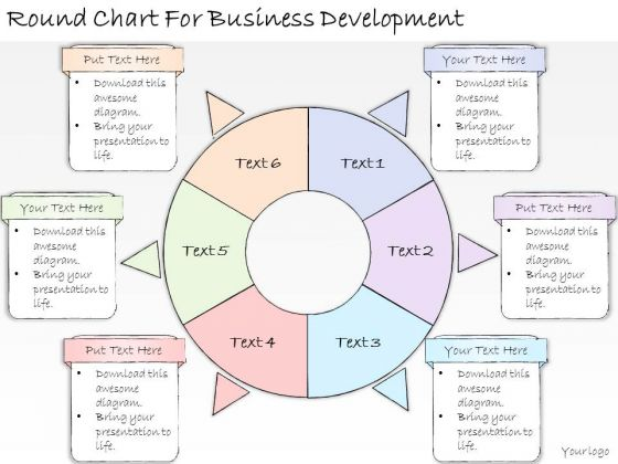 Ppt Slide Round Chart For Business Development Strategic Planning