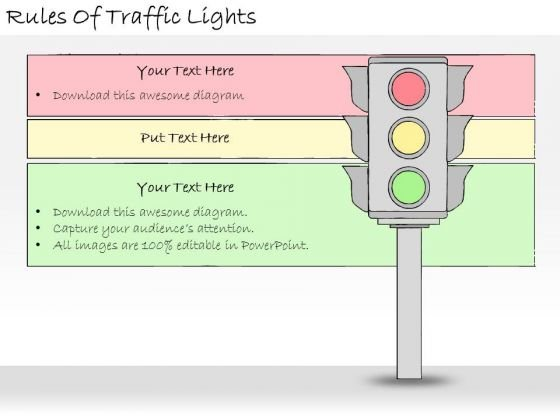 Ppt Slide Rules Of Traffic Lights Strategic Planning