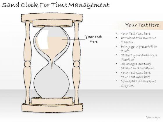 Ppt Slide Sand Clock For Time Management Strategic Planning