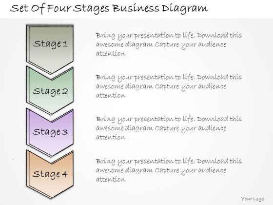 Ppt Slide Set Of Four Stages Business Diagram Diagrams