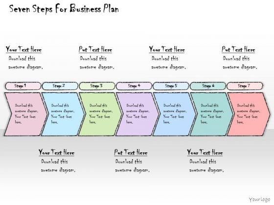 Ppt Slide Seven Steps For Business Plan Consulting Firms