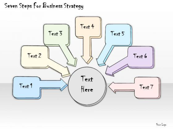 Ppt Slide Seven Steps For Business Strategy Diagrams
