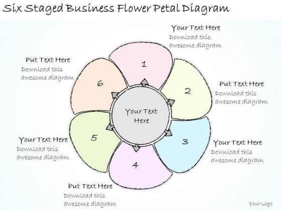Ppt Slide Six Staged Business Flower Petal Diagram Diagrams