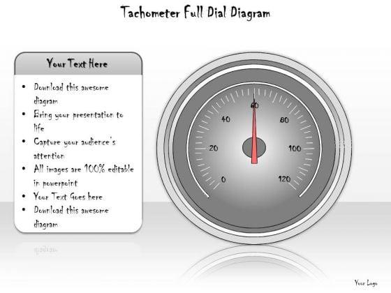 Ppt Slide Tachometer Full Dial Diagram Sales Plan