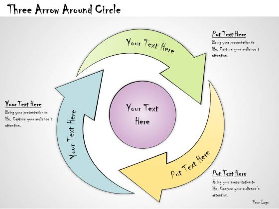 Ppt Slide Three Arrow Around Circle Strategic Planning