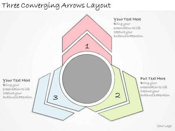 Ppt Slide Three Converging Arrows Layout Business Diagrams
