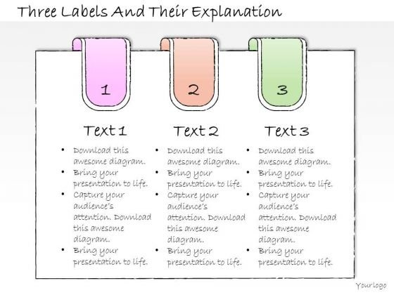 Ppt Slide Three Labels And Their Explanation Consulting Firms