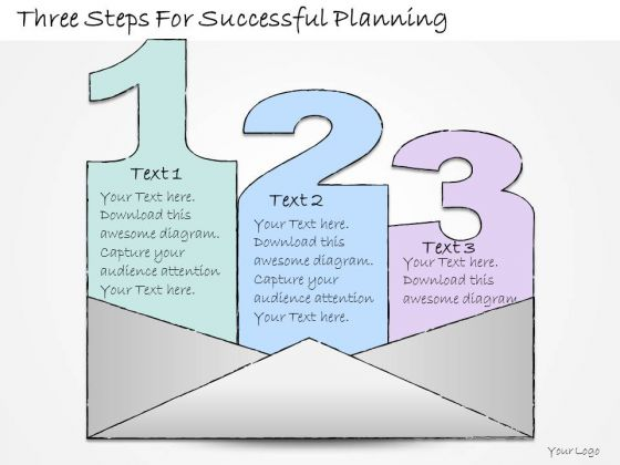 Ppt Slide Three Steps For Successful Planning Business Diagrams