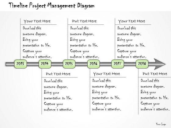 Ppt Slide Timeline Project Management Diagram Business Diagrams
