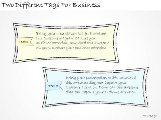 Ppt Slide Two Different Tags For Business Marketing Plan