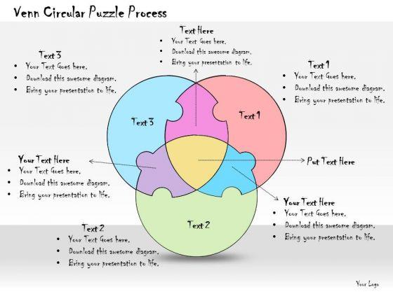 Ppt Slide Venn Circular Puzzle Process Business Plan