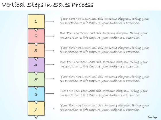 Ppt Slide Vertical Steps In Sales Process Plan