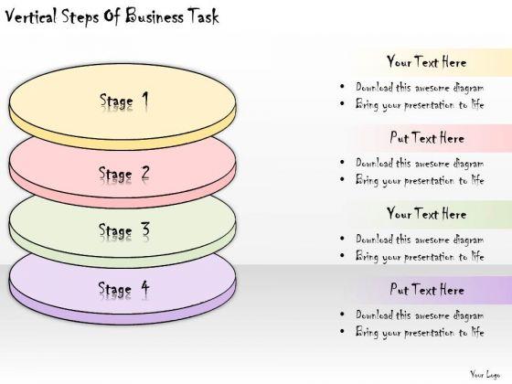Ppt Slide Vertical Steps Of Business Task Sales Plan