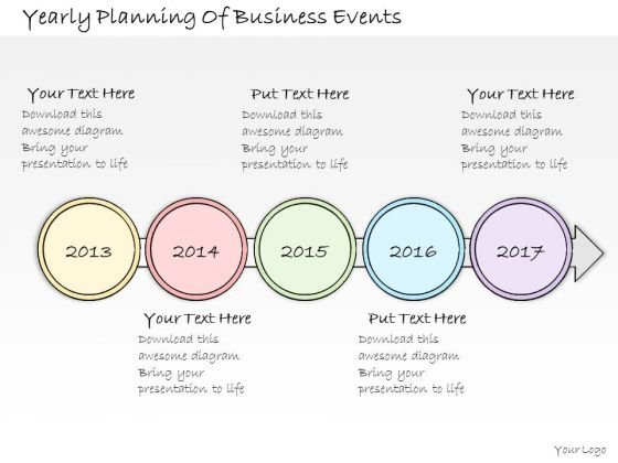 Ppt Slide Yearly Planning Of Business Events Diagrams