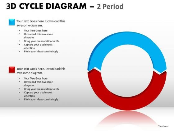 Ppt Slides 2 Stage Cycle Diagram PowerPoint Templates