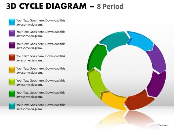 Ppt Slides 8 Circular Stages Cycle Diagram PowerPoint Templates