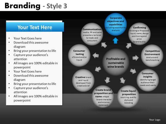 Ppt Slides Circular Bubbles Chart PowerPoint Templates