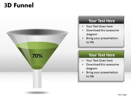Ppt Slides Create 3d Funnels For PowerPoint Templates
