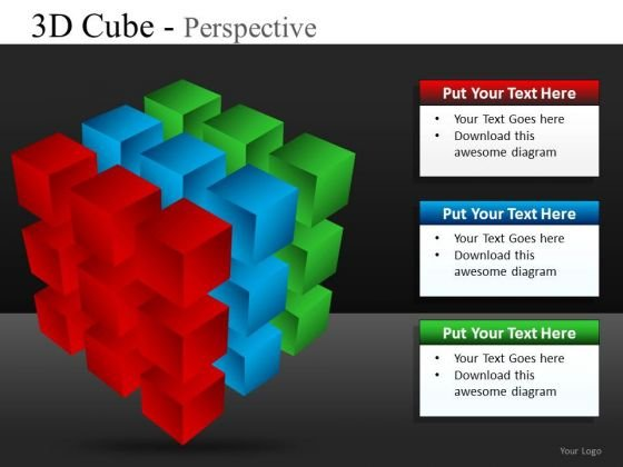 Ppt Slides Cube Diagrams PowerPoint Templates