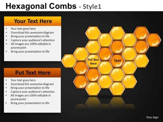 Ppt Slides Hexagonal Comb