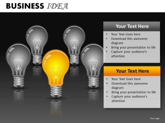 Ppt Slides Light Bulbs Ideas