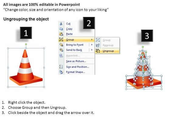 ppt_slides_obstacles_and_traffic_cones_on_road_ahead_powerpoint_templates_2