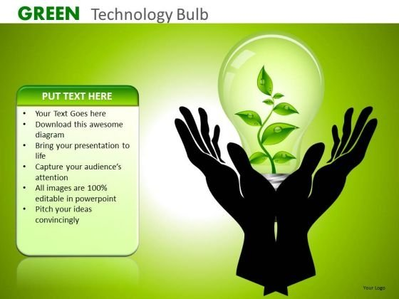 Ppt Slides Preserve Nature Green Technology PowerPoint Templates