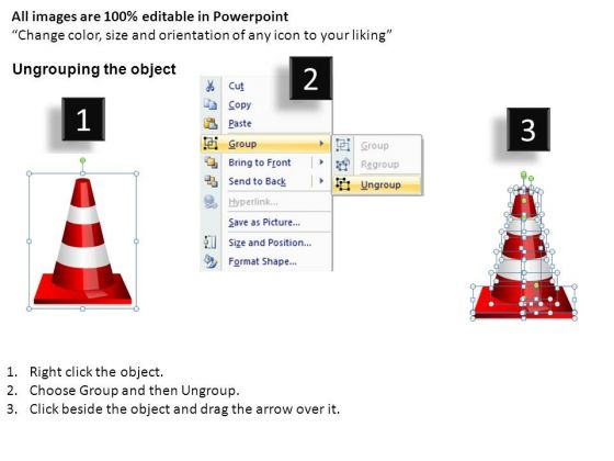 ppt_slides_traffic_cones_business_obstacles_powerpoint_templates_2