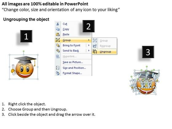 ppt_smiley_emoticon_with_graduation_degree_and_cap_process_powerpoint_templates_2