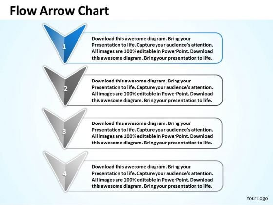 Ppt Stage 1 Beeline Flow Arrow Diagram Presentation PowerPoint Tips Templates