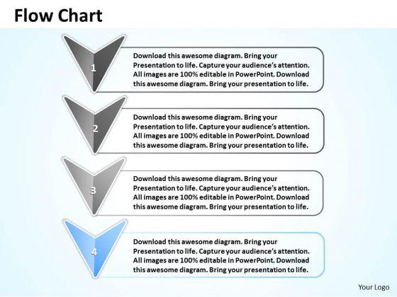 Ppt Stage 4 Continuous Flow Arrow Swim Lane Diagram PowerPoint Template Templates