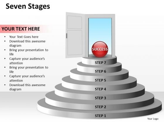 Ppt Staircase To Success Having 7 Steps PowerPoint Templates