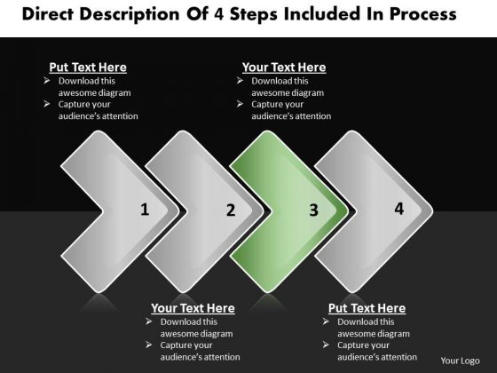 Ppt Staright Description Of Process Business PowerPoint Templates