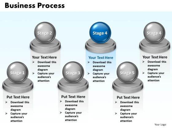 Ppt Steps Of Business Procedure 6 Stages Presentation PowerPoint Templates 0812