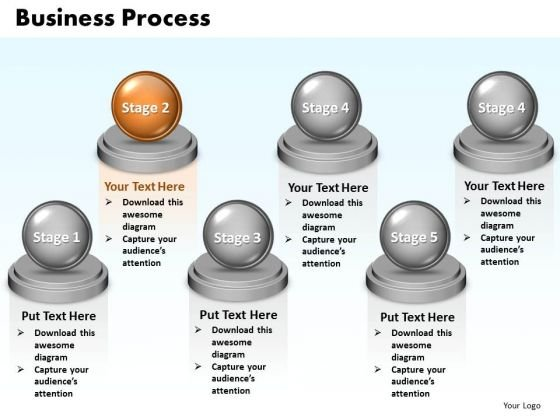 Ppt Steps Of Marketing Process 6 Stages Presentation PowerPoint Templates 0812