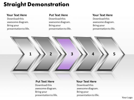 Ppt Straight Demonstration Of Process Using Circular Arrows PowerPoint 2010 Templates